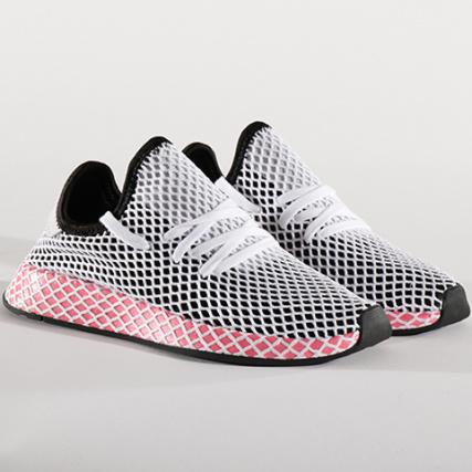Baskets Adidas Chalk Cq2909 Core Runner Femme Pink Deerupt Black Sdxrda