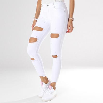 Only Blanc Girls Femme Jean 25196z Déchiré Skinny 71WqYzgcqp