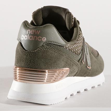 501964353c71d Home   New Balance   Baskets - Chaussures   Baskets Basses   New Balance -  Baskets Femme 574 Classics 639701-50-20 Vert Kaki