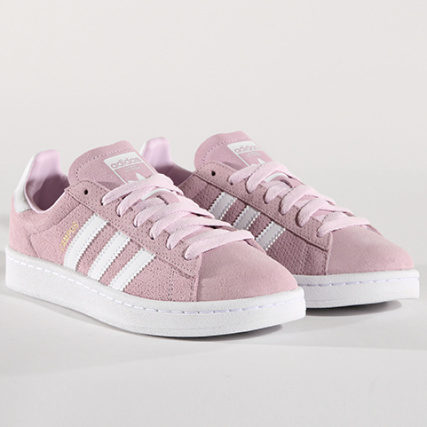 adidas Baskets Femme Campus CQ2943 Aero Rose Footwear Blanc