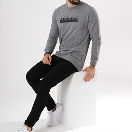 Gris Col K6xg0 Guess M83q01 Sweat Chiné Sweats Gt; Rond Crewneck wtra5rxX