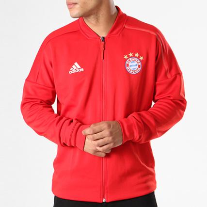 Veste Bayern Cy6107 Adidas Rouge Zippée Fc Munchen E8c8rq