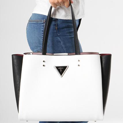 a3285a1f7c Guess - Sac A Main Femme VG664023 Blanc Noir - LaBoutiqueOfficielle.com