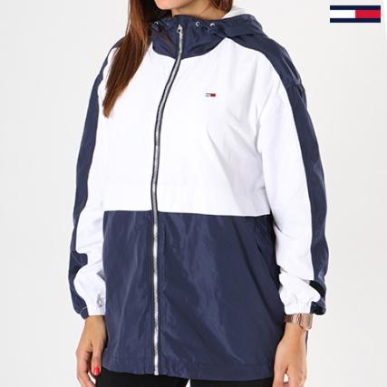 Tommy Hilfiger Jeans - Coupe-Vent Femme Classics 4617 Blanc Bleu Marine -  LaBoutiqueOfficielle.com bd95cd0dde2d