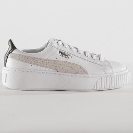 Platform Puma Euphoria Baskets 01 367850 Metal Aged White Femme aqwExwR