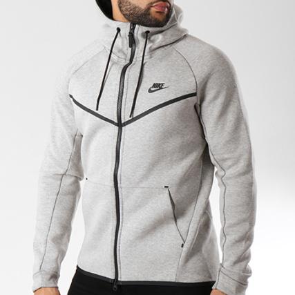 Nike - Sweat Zippé Capuche Tech Fleece 805144 072 Gris Chiné -  LaBoutiqueOfficielle.com 4d705f4c9a36