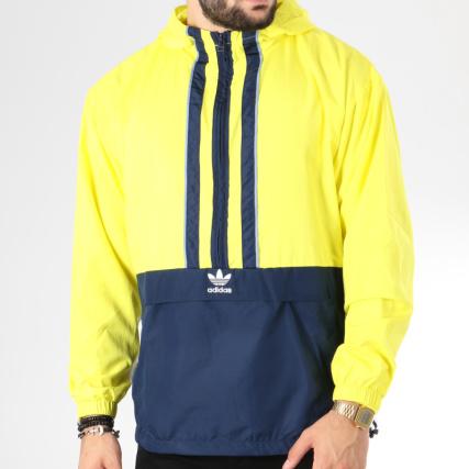 Adidas Jaune Bleu Bandes Authentic Brodées Vent Coupe Dh3842 fzBaWYqrfZ
