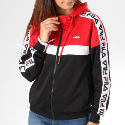Bandes Teela Sweats Noir Home Sweat Capuche Pulls Femme Rouge Zippés Blanc 682322 gt; Zippé Fila Avec zwqwP1Ux