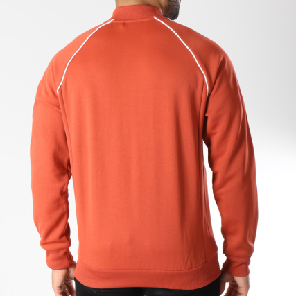 Rouge Brique Home Adidas gt; Blanc Blousons Bandes Avec Zippée Veste Sst Dh5823 Vestes Brodées q7PHxgCqw