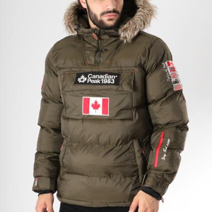 Rouge Canadian Peak Brodés Boreak Patchs Doudoune Fourrure wx1nqI14Xf