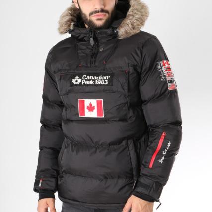 look for buying now promo code Canadian Peak - Doudoune Fourrure Patchs Brodés Boreak Noir ...