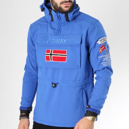 Bleu Capuche Veste Roi Geographical Brodés Patchs Norway Target ISzdwzHx