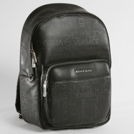 Versace Jeans - Sac A Dos Linea Logo All Over Dis 6 Noir -  LaBoutiqueOfficielle.com cd85042cd77
