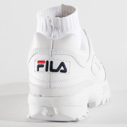 White Baskets Red Navy 5fm00010 Evo Femme Fila Sockfit Yb6f7gyv