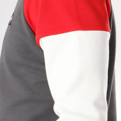 Gris Pulls 1722333 Sportif Rond Le Rouge Bleu gt; Anthracite Sweat Blanc Tricolore Sweats Coq Home Crewneck Col q17Xwn
