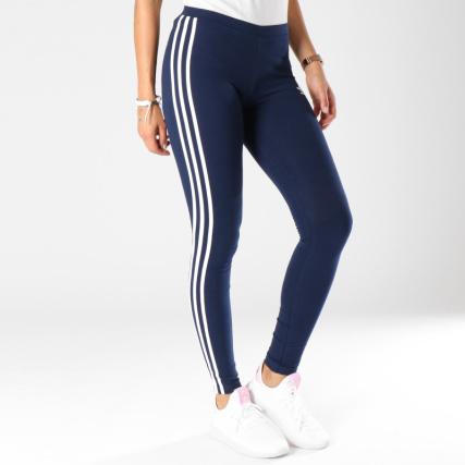 3 Dh3182 Legging Marine Adidas Stripes Femme Bleu EPgIqv7