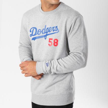 Crewneck Dodgers Chiné Apparel Era Team New 11604004 Angeles Gris Sweat Script Los qS84wE