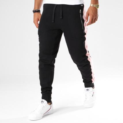 Hechbone - Pantalon Jogging Avec Bandes Kin Noir Rose -  LaBoutiqueOfficielle.com 50d527c97b9