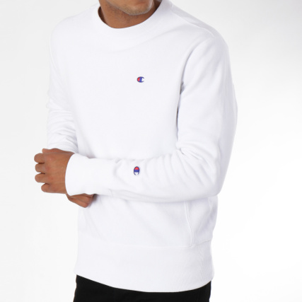 Champion Blanc Sweat 212572 Champion Blanc Crewneck Champion 212572 Crewneck Sweat IqxaRPXwP
