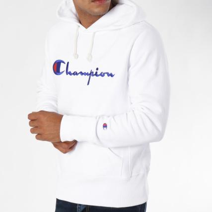 c22f6a4ff6a62 Champion - Sweat Capuche 212574 Blanc - LaBoutiqueOfficielle.com
