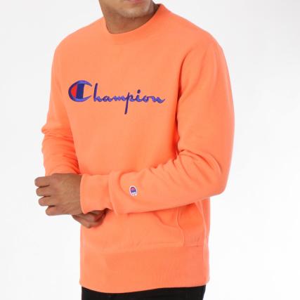 881efcbf8a9a Champion - Sweat Crewneck 212576 Corail - LaBoutiqueOfficielle.com