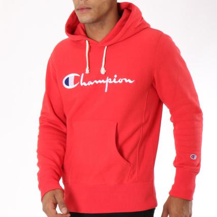2c27960e8e93f Champion - Sweat Capuche 212574 Rouge - LaBoutiqueOfficielle.com