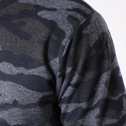 Chiné Anthracite Camouflage Scoro Gris Mz72 Pull gwzqUFHx