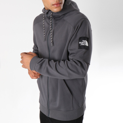 The North Face - Sweat Zippé Capuche Fine Gris Anthracite -  LaBoutiqueOfficielle.com b38c310ebd1