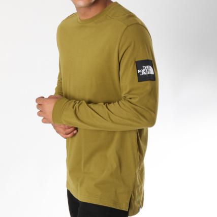 f1362b2d3c202 The North Face - Tee Shirt Manches Longues Fine 2 Vert Kaki -  LaBoutiqueOfficielle.com