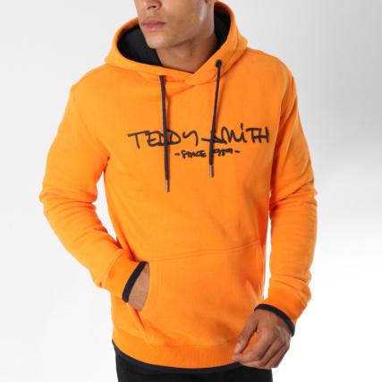 b426bd3743703 Teddy Smith - Sweat Capuche Siclass Orange - LaBoutiqueOfficielle.com