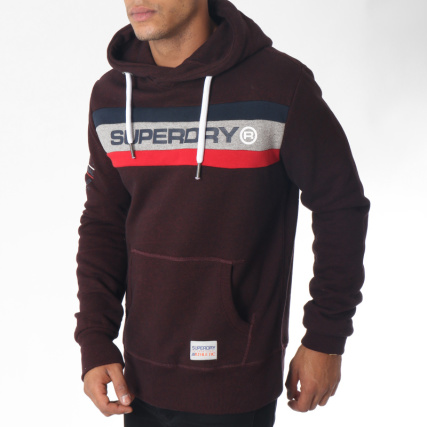Superdry - Sweat Capuche Trophy Bordeaux Chiné - LaBoutiqueOfficielle.com 1f7243223bb7