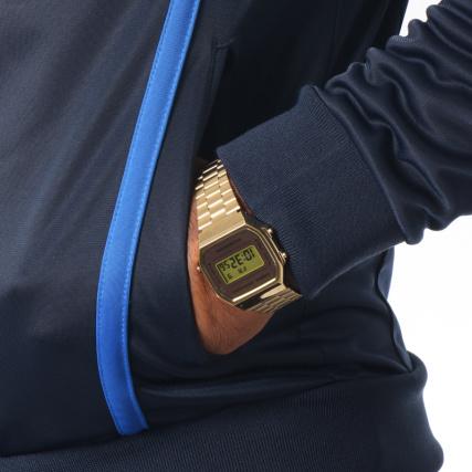 Veste Marine Ilka Zippée Tacchini Bleu Brodées Sergio Bandes 38168 vwq7U5Wgx