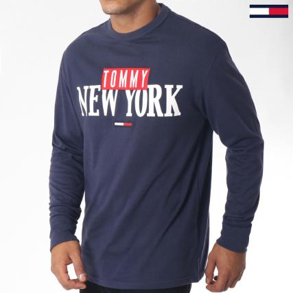 22ae66b329d47 Tommy Hilfiger Jeans - Tee Shirt Manches Longues New York 5131 Bleu Marine  - LaBoutiqueOfficielle.com