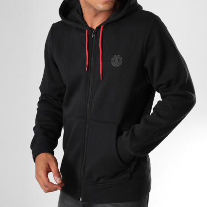 Noir Cornell Capuche Element Zippé Sweat wCIgcqHU