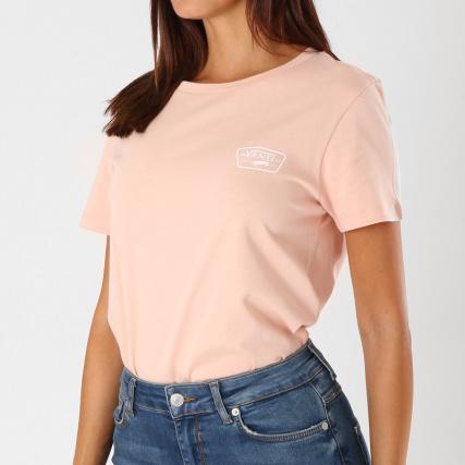 9dad6673b2b47 Vans - Tee Shirt Femme Full Patch 3AK6 Rose - LaBoutiqueOfficielle.com