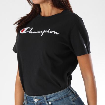 champion tee shirt femme 110992 noir. Black Bedroom Furniture Sets. Home Design Ideas