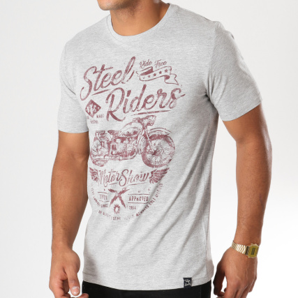 395729b39eed Riders Gris Laundry Chiné Tokyo Shirt Tee Steel awP8Z