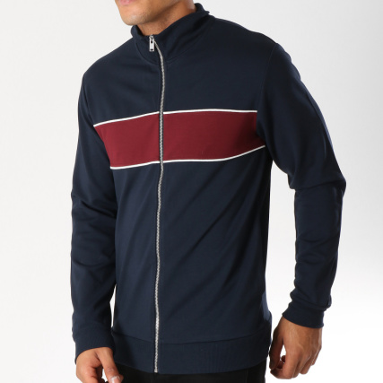 Bordeaux Selected Veste Zippée Nicki Bleu Marine Zpwn186q
