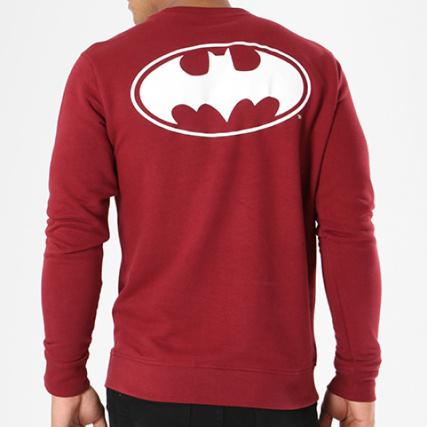 Comics Logo Bordeaux Sweat Dc Blanc Crewneck Batman Yqvp4