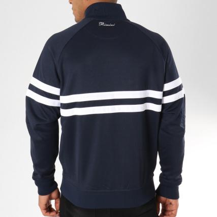 Home Vestes Rimini Blanc Ellesse Bleu Marine Blousons gt; Veste Zippée Ztxr6nSZwq