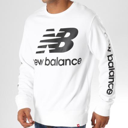 Sweat Crewneck 60 Balance Blanc Noir 660140 New F5g6wxqnx
