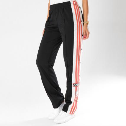 adidas - Pantalon Jogging Avec Bandes Femme Original DH4677 Noir Blanc Rose  - LaBoutiqueOfficielle.com b653834952be