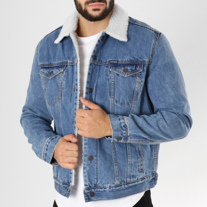 Randall Denim Bleu Col A Smith Veste Mouton Sherpa Teddy Jean qSRYw4z