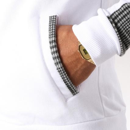Zippée Gris gt; Home Veste Classic Blousons Series 1124 Blanc Chiné Vestes zYxSnA