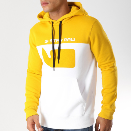 Core Sweat Star 10 Blanc Capuche D12591 Graphic A433 Jaune G TqFwPxUXU