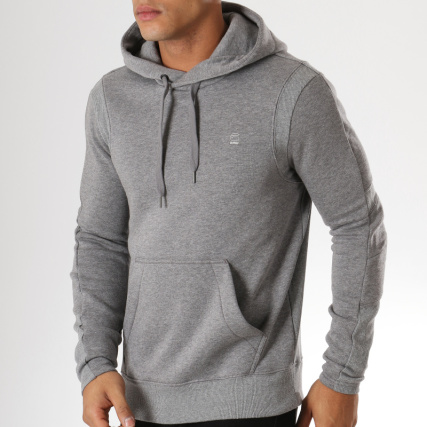 34fec7413c2a6 G-Star - Sweat Capuche Motac X D10351-A433 Gris Chiné -  LaBoutiqueOfficielle.com