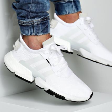 Pod Footwear Core B37367 White Baskets Adidas Black 1 S3 zHav65wnqS