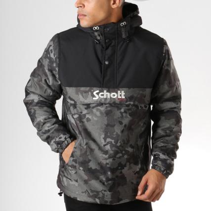 Schott Noir Home gt; Vert Camouflage Vestes Kaki Outdoor Veste Husky Nyc Blousons TnfxqZn
