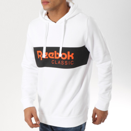 Noir Dx0149 Orange Blanc Sweat Reebok Classic Capuche wqxARcgUa