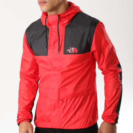 The North Face - Coupe-Vent 1985 Mountain CH37 Rouge Noir -  LaBoutiqueOfficielle.com ce842eb3f7d